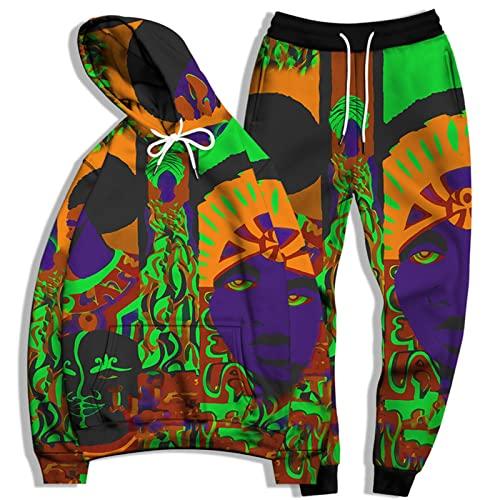 SSBZYES Traje De Sudadera para Hombre Sudadera De Talla Grande para Hombre Pantalones De Chándal De Talla Grande Sudadera con Capucha De Impresión En Color Traje De Sudadera