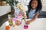 Barbie Mobilier coffret poupée et son animalerie, 4 figurines animaux et accessoires inclus, jouet pour enfant, GRG90