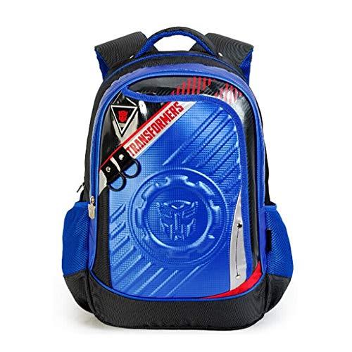 WHYDIANPUJunior Rucksack für Kinder 3D Transformers Schultasche 1-2-3-5 Klasse Junge Hornisse Schüler Kinderrucksack 6-12 Jahre alt Schultern (Color : 1, Size : 46.5x30x14.5cm)
