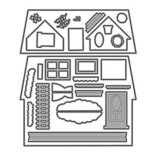PHILSP Plantilla de Plantilla de Grabado en Relieve de Troqueles de Corte DIY para Hacer Tarjetas de Papel de álbum de Recortes