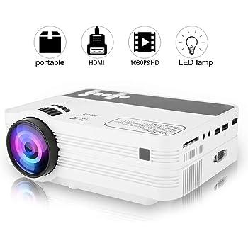 LESHP Proyector LED de Video 1080P HD 3200 Lúmenes, Proyector ...