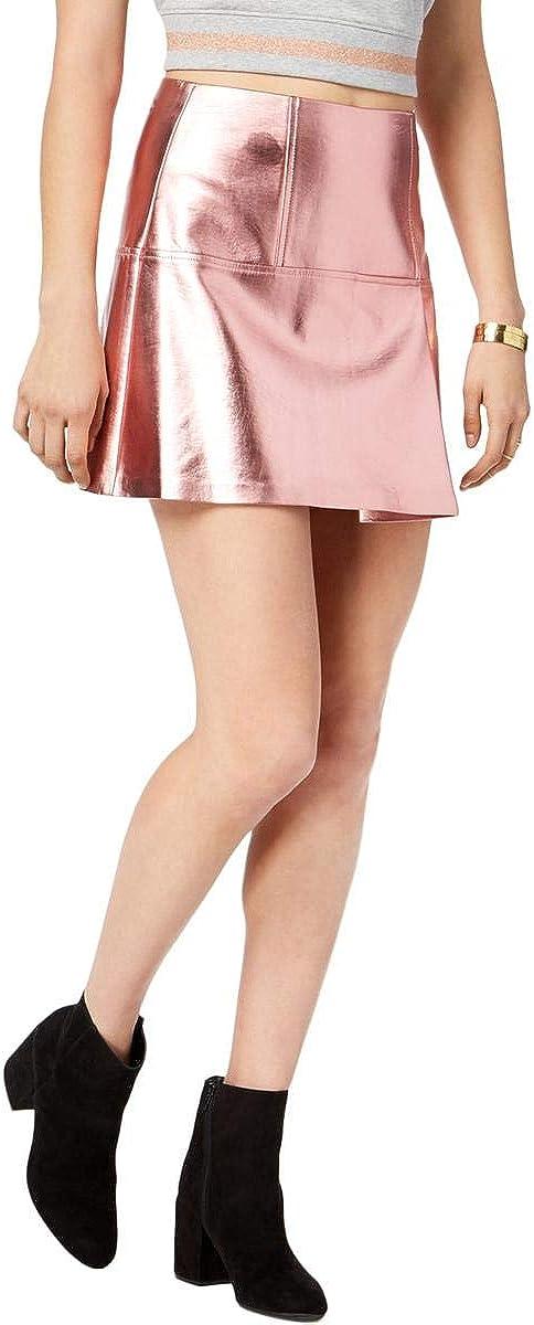 GUESS Womens Metallic Layered Mini Skirt