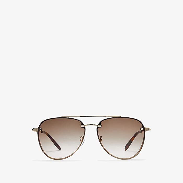 Alexander McQueen  AM0183SK (Gold/Grey) Fashion Sunglasses