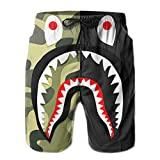 Dolores Marguerite Bape White Mens Beach Shorts with Pockets Quick Dry, White 3, XX-Large