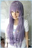 ストレート ロング ウィッグ コスチューム用小物 紫 80cm