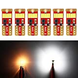 2012 Ford Fusion License Plate Light Bulbs - Phinlion 500 Lumens 194 LED Bulb 6000K White Super Bright Canbus 168 2825 W5W T10 Wedge 15-SMD 4014 Chipsets LED Replacement Bulbs for Car Dome Map Door Courtesy License Plate Lights, Pack of 6