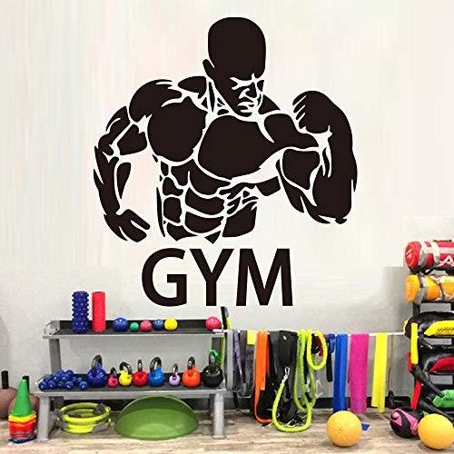 XL 58 cm X 56 cm Muscle Men GYM Wandaufkleber Abnehmbare tapete DIY Tapete vinyl aufkleber für Wanddekoration sport tapeten Wandbilder