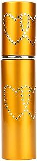 香水スプレーボトル  YOKINO アトマイザ- 詰め替え ポータブル クイック 香水噴霧器  詰め替え容器 香水用 ワンタッチ補充 香水スプレー パフューム  プシュ式 アトマイザ プルームテック 10ml (ゴールド)