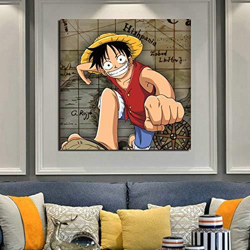 KWzEQ Bewegende Cartoons drucken auf Leinwand Leinwand Wohnzimmer Dekoration Moderne Hauptwandkunst Ölgemälde Poster Bilder,Rahmenlose Malerei,70x70cm