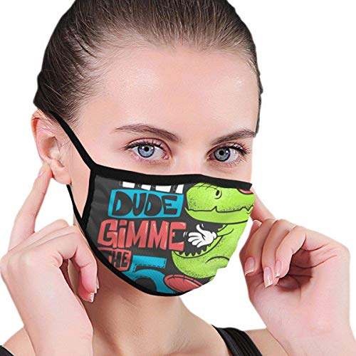 CAIQ Skateboard dinosaurus Urban T-shirt print design vector illustratie stof half gezicht ma-skouth ma-SKS met oorbeschermers anti-stof anti-haze winddicht ma-sk