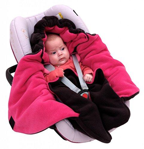 """ByBoom® – Baby Winter-Einschlagdecke """"Das Original mit dem Bären"""", Universal für Babyschale, Autositz, z.B. für Maxi-Cosi, Römer, für Kinderwagen, Buggy oder Babybett, Farbe:Anthrazit/Grau - 4"""