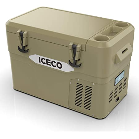 ICECO JP42 Pro, 3 in 1 Refrigerator, 12 Volt Portable Fridge Freezer Cooler, Powered by SECOP, Rotomolded Construction (Khaki)