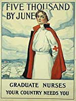 大学院看護師、ブリキサインヴィンテージ面白い生き物鉄の絵の金属板ノベルティ