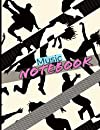 Music notebook: 8 musical staves on one side, lines to write text or song on the other. Composition notebook for speech and music. Note-taking and musical writing. Hip hop dance style cover. Large A4 format, 110 pages.