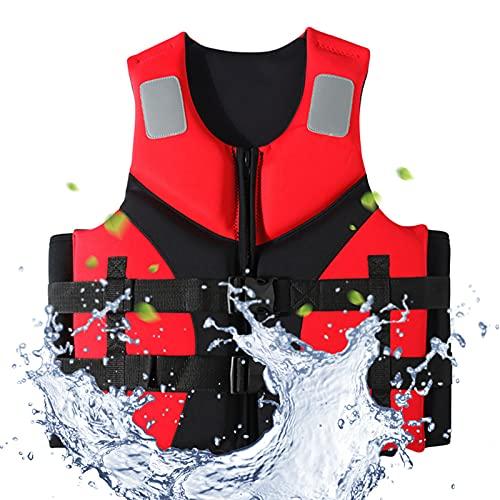 Deportes acuáticos Chalecos Salvavidas para Adultos Chaleco Salvavidas de Neopreno para Pesca Deportes acuáticos Kayak Navegación Chaleco Salvavidas de Seguridad a la Deriva