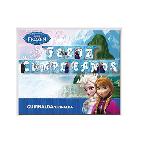 Frozen - Guirnalda feliz cumpleaños (Verbetena 014001262 ...