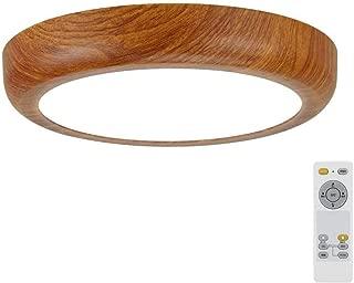 LEDシーリングライト 18W 無段階調光調色 6畳 リモコン付き 常夜灯モード 5分/30分スリープタイマー機能 木目調 簡単取付 天井照明 丸型 和風 おしゃれ 部屋 和室 小型 PSE認証済み 1年保証