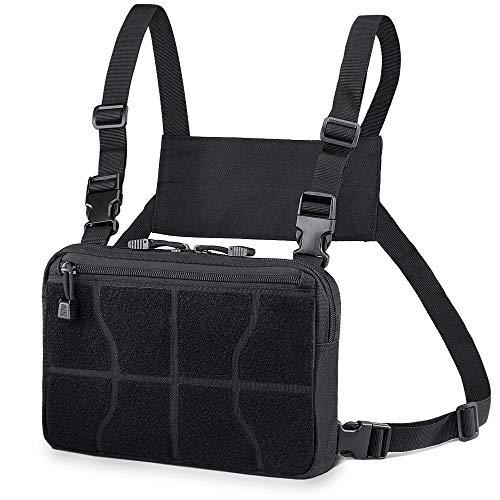 WYNEX Recon Kit Bag, Pack de Poitrine Tactique Sac de Veste Molle Sacs Pochette Avant Camouflage Harnais Airsoft Sac à Dos Tout Usage Pochette de Transport EDC dissimulée