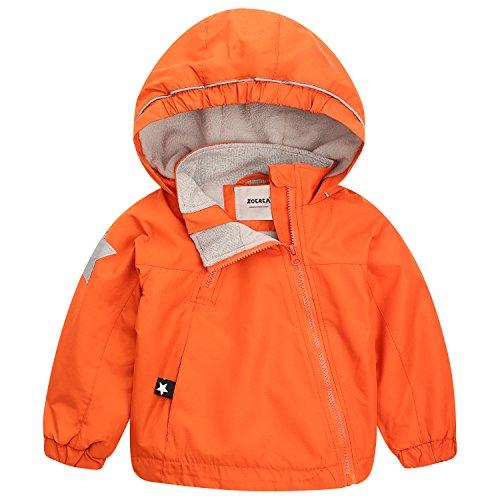 ZOEREA Baby Kinder Jacke Winter Junge Mädchen Renjacke wasserdichte Winddicht Mantel Kapuzenjacken für Herbst Winter Körpergröße 85-140cm