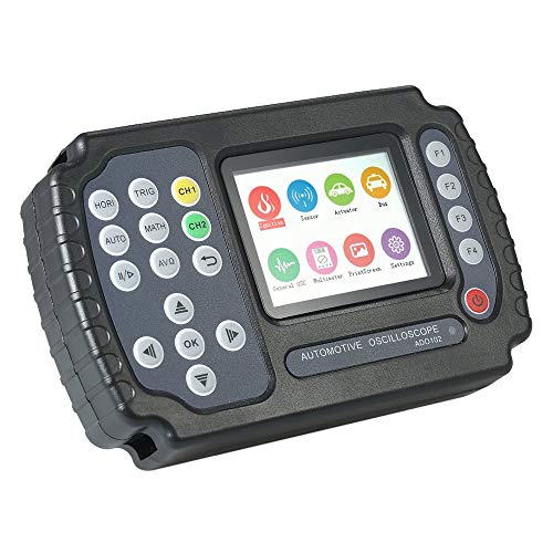 WYZXR Osciloscopio automotriz multímetro de 10MHz, osciloscopio Digital portátil Mi de 2 Canales 100MSa / sni osciloscopio de Almacenamiento de Datos USB