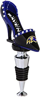 Team Sports America NFL Baltimore Ravens High Heel Shoe Wine Bottle Stopper, Small, Multicolored