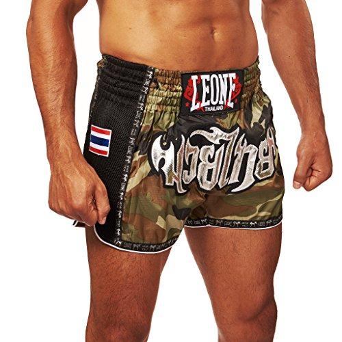 LEONE 1947 - Bangkok Pantaloncino Kick-thai, Unisex – Adulto, Verde Mimetico, L