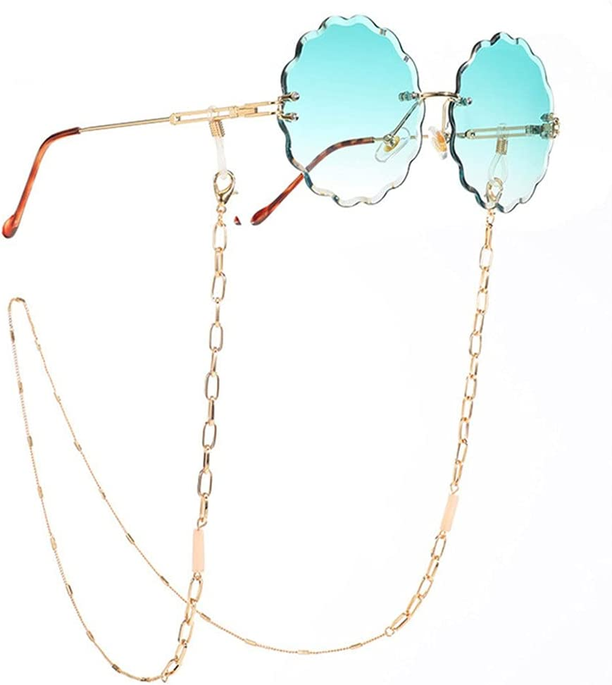 DIAOD Metal Sunglasses Chain Crystal Glasses Lanyard Necklace Strap Cord Women Jewelry Eyeglasses Accessories (Color : A, Size : Length-70CM)