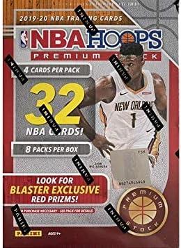 2019-20 Panini NBA Hoops Premium Stock Basketball Blaster Box 32 ct. Red Prizms (red or blue box)
