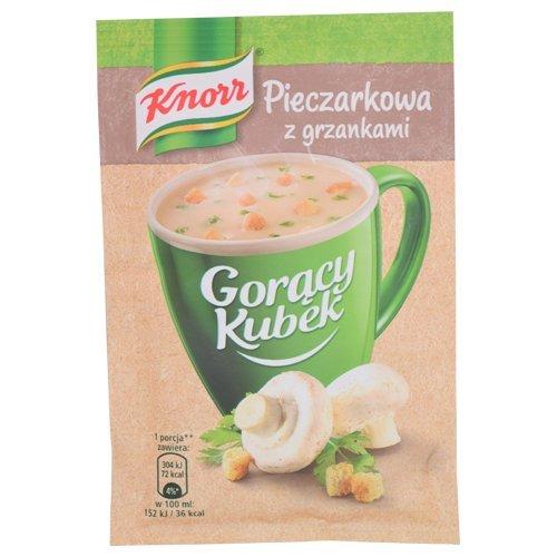 Knorr goracy Kubek Heiße Tasse Champignonsuppe mit Croutons 15g