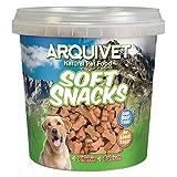 Arquivet Soft Snacks de salmón para Perro - Snacks Naturales en Forma de huesitos - Golosinas y chuches Naturales - Premios y recompensas para Perros - 800 g
