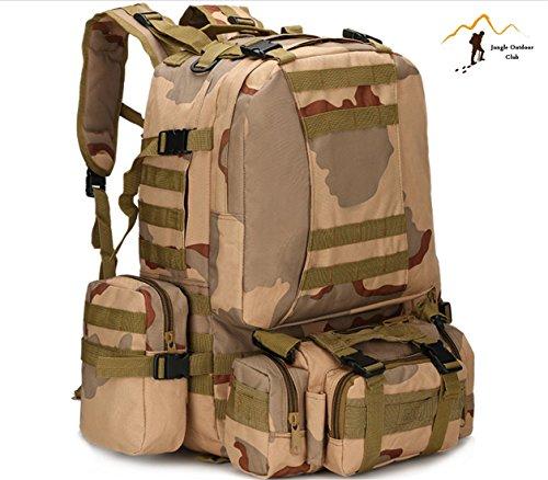 Jungle 50L Molle pour homme 's Lot Big Sacs de voyage Lot Camouflage Sac tactique poches Wild Sac à dos Unlimited Combinaison des Grandes Backpackhiking escalade Sac à dos, CP Camouflage