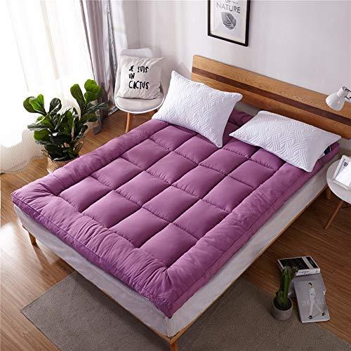 Einfarbig Verdicken Tatami matratze Anti-rutsch Faltbare japanische Matratze pad Quilten Atmungsaktiv Single Futonbett Matratze Für Student Schlafsaal etcE-180x200cm(71x79inch)
