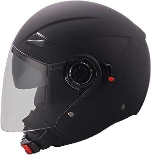 Jethelm Helm Motorradhelm Rollerhelm mit Sonnenvisier RALLOX 702B matt schwarz Größe XL