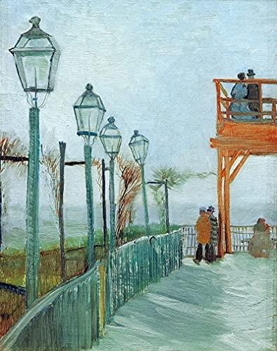 PLKIJ Puzzle Personalizzabili da 1000 pezzi Vincent Van Gogh-Montmartre-Gioco di puzzle per adulti e adolescenti Giocattoli Regalo Decorazione per la casa Giocattoli fai da te per 75x50 cm