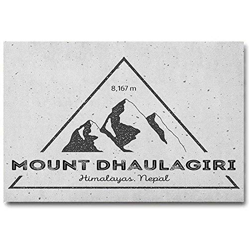 Nepal Music Posters for Walls Dhaulagiri Mountain in Himalayas Climbing Tourism Themed Extreme Sports Image Christmas Wall Decorations No Frame Grey Charcoal Grey L30 x H60 Inch