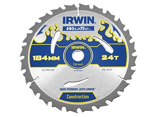 Irwin - Disco sierra circular weldtec 184mm/24t ar16
