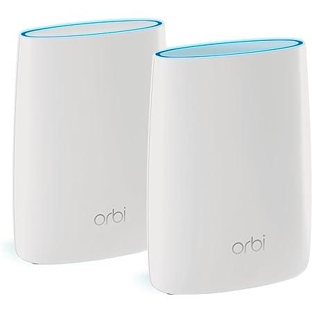 NETGEAR メッシュWiFi無線LANルーター2台セット Orbi 11ac 速度AC3000 トライバンド 推奨60台/350㎡ RBK50