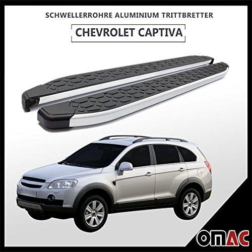 Schwellerrohre Aluminium Trittbretter für Captiva - Antara 2006> Blackline (173)
