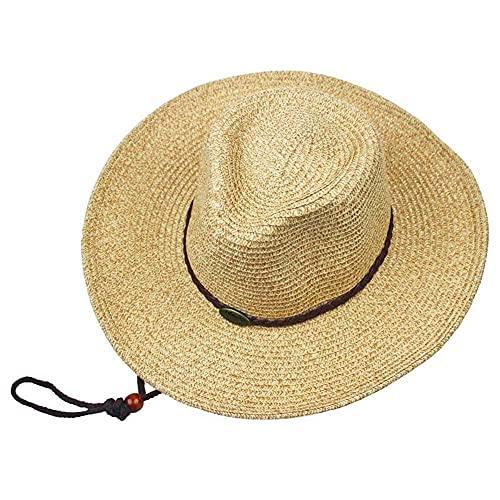 Sombrero de Verano de Safari Al Aire Libre Ancho con Cuello de Abrigo de Cuello; Protección Del Sol (Tamaño: 56-59 Cm) cinta/D