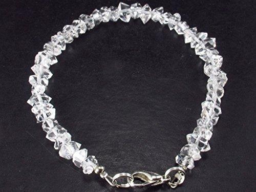 Herkimer - Pulsera de cuarzo con diamante de grado A+ de EE. UU., 7 pulgadas