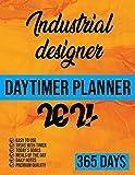 Industrial designer Daytimer planner 2021: 365 Days planner, 2021 day minder monthly planner, dailyPlanner and Organizer 8.5x11, Task with timer, Goals, Meals, Notes