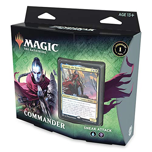 Magic: The Gathering Zendikar Rising Commander Deck – Sneak Attack | 100 Card Ready-to-Play Deck | 1 Foil Commander | Blue-Black