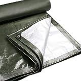 Lonas Paño para la lluvia - Lona impermeable acolchada impermeable de protección solar Adecuada para triciclo / automóvil / camión Lona de tiras de colores - 180g / M2, tamaño 22 - Verde Puede protege