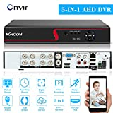 OWSOO 8Canali DVR Videoregistratore Digitale,1080P Full HD ad Alta Definizione Ibrido AHD/ONVIF IP/Analogico/TVI/CVI/DVR Video Sorveglianza CCTV,P2P Monitoraggio del Telefono Remoto