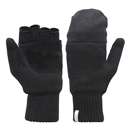 TrailHeads Women's Fingerless Gloves | Merino Knit Convertible Mittens (small/medium)