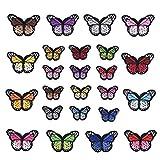 24 Piezas Parches de Mariposas Parches de Costura Parches de Mariposa Bordados para DIY Decoración Camiseta Chaqueta y Zapatos