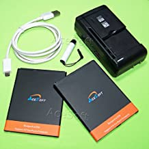 [Galaxy Mega 6.3 Battery] AceSoft 2X 4380mAh Replacement Battery Universal Travel Wall Charger USB Cable Stylus for AT&T Samsung Galaxy Mega 6.3 I9200 SGH-I527 Phone