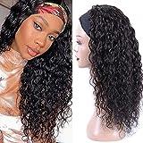 Pelucas Mujer Pelo Natural Humano 18 Pulgada Peluca Pelo Natural Humano Cabello Natural Rizado Pelucas Mujer Pelo Humano Natural Largo Curly Headband Wig Human Hair
