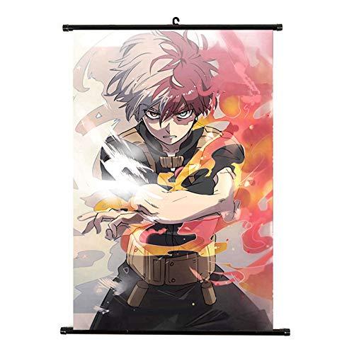 Cotrdocigh Anime My Hero Academia Poster Boku No Hero Academia Poster Fabric Scroll Painting Personaje de dibujos animados Wall Scroll Hanging Home Decor, 8.26 X 11.81Inch(H05)