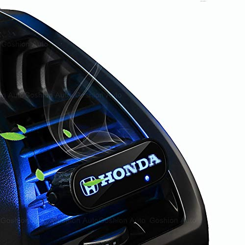 Goshion Auto LED Car Logo Perfume Aromatherapy Atmosphere Light 7 Colorful, Car Air Vent Outlet Solid Fragrance Smell Air Freshener for H-onda